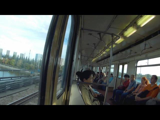 Вся Замоскворецкая линия метро Алма Атинская Речной вокзал