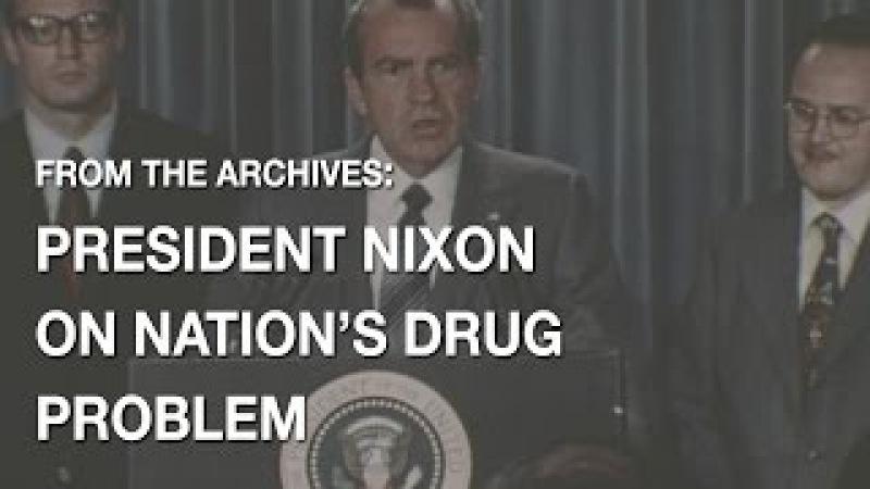 President Nixon Declares Drug Abuse Public Enemy Number One