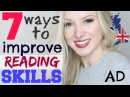 7 ways to IMPROVE ENGLISH READING skills and comprehension | Learning English Technique Lesson AD