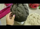 Gorro de Trenzas Cables a Crochet