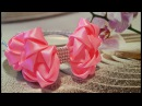 Girls Satin Ribbon Hair Bow/Mädchen Haar Reif/DIY/Kanzashi/Tutorial/Rajf za djevojcice