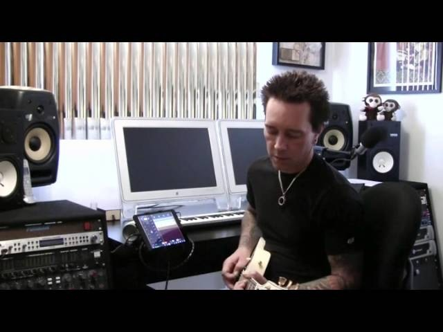 Billy Morrison records ideas with iRig HD and AmpliTube for iPad