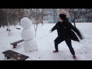 Прикол Как отпиздить снеговика 2015 Юмор Мдк #Приколы