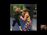 Felice Herrig training for the fight against Karolina Kowalkiewicz on UFC 223