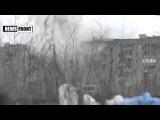 Углегорск  Преступления войск РФ против человечества  Обстрел из танка жилого дома