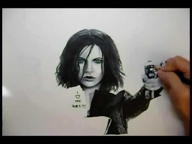 Underworld Awakening: Selene Drawing