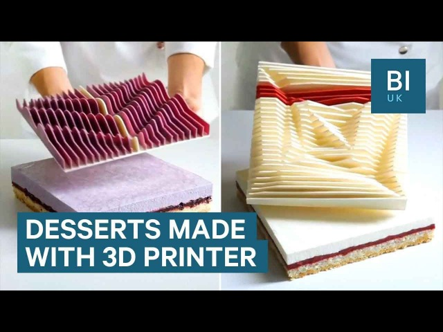 This chef uses a 3D printer to create incredible cakes