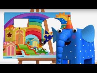 Деревяшки - Картина - Учим фигуры - развивающий мультик для малышей - Серия 19