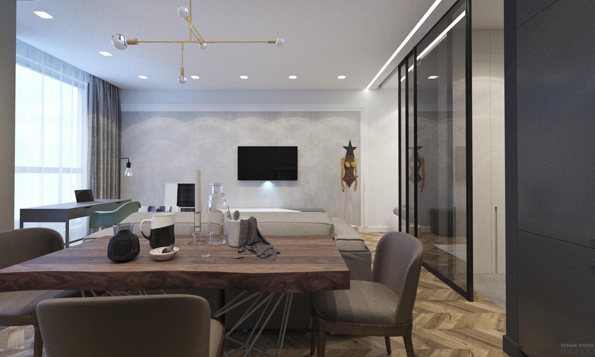 Проект квартиры 42,6 м.
