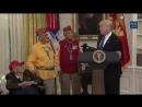 Трамп пошутил про Покахонтас на встрече с индейцами-ветеранами