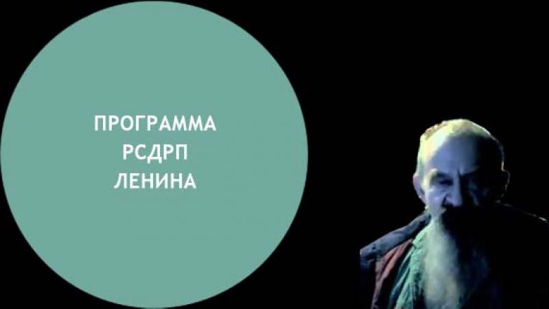 Прогамма РСДРП Ленина не ставила своей целью построение социализма