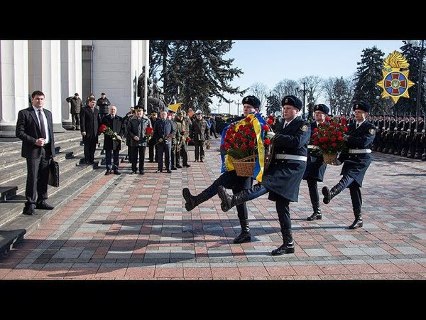 Під стінами Верховної Ради вшанували пам'ять про полеглих бійців Нацгвардії