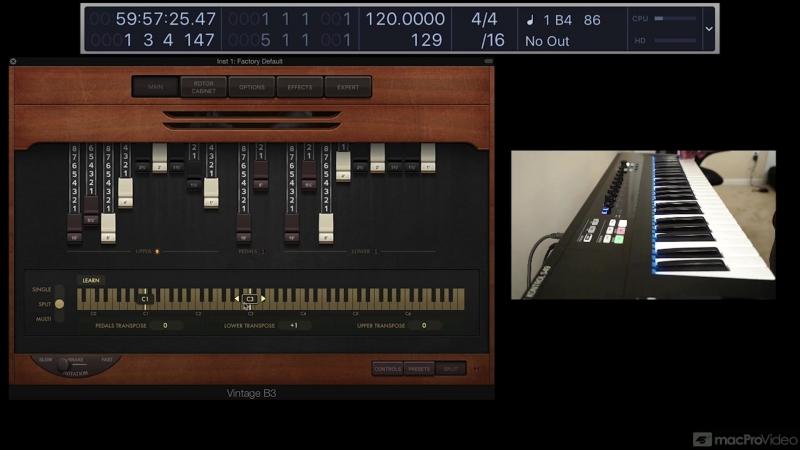 MacProVideo - Logic Pro FastTrack 114 Vintage B3 Organ