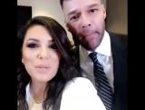 Ricky Martin и Ева Лонгория перед Global Gift Gala в Майами