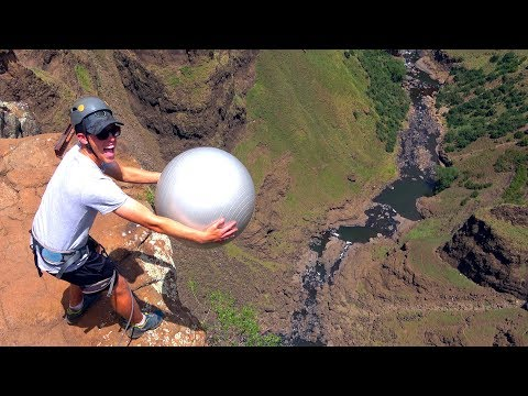 Exercise Ball Magnus Effect from 200m