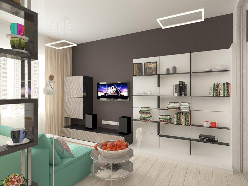 Концепт студии 26,5 м от СГ Третий Рим, застройщика жилого района Гармония, Михайловск.