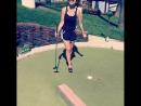 Dillion Harper играет в гольф, звезда порно модель