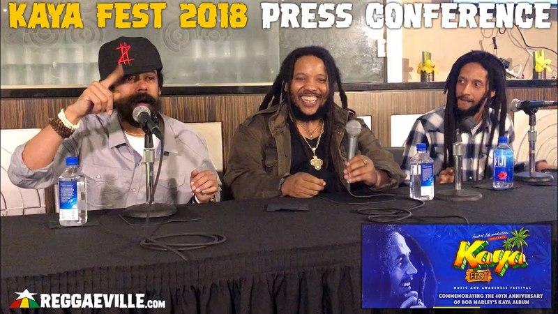 Damian, Stephen Julian Marley - Performance @ Press Conference |Kaya Fest 2018