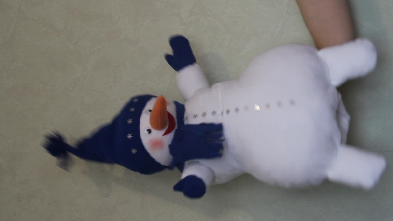 Кукла снеговик для кукольного театра