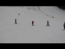 Ромин первый в жизни спуск второе занятие на лыжах