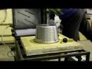 Вакуумная формовка полистирола 0,48 мм по алюминиевой форме.