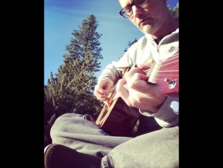 Playing guitar with the birds at the top of the mountain. #baldhippie #idyllwild