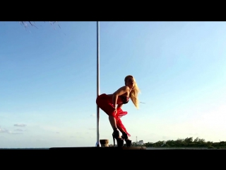 Anastasia Sokolova Poledancer! Pole dance on the beach of paradise hotel Desire