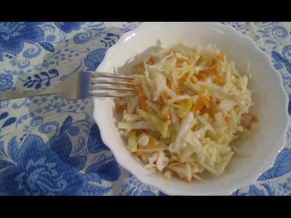 Готовим капустный салат-закуску. Без уксуса. Квасим 3 дня.