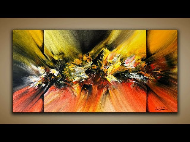Abstract Painting / DEMO 58 / Abstract Art / How to Paint / Painting Techniques