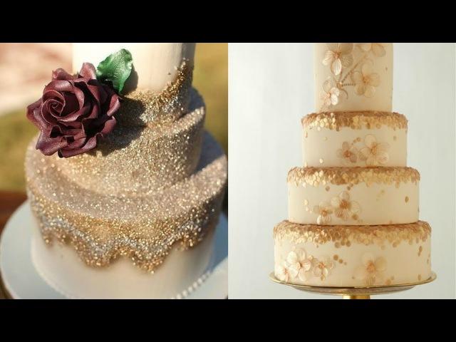 Пайетки на торте без аэрографа и посыпки Из желатина
