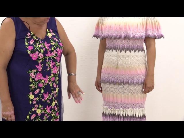 Платье из вязаного трикотажа миссони, обзор готового изделия