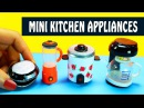 How to Make Miniature Kitchen Home Appliances Blender Rice Cooker Griddle Coffee Maker etc