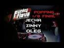 Funky Flava Novosibirsk Popping 1 8 Final Oleg vs Jecha vs Zinny
