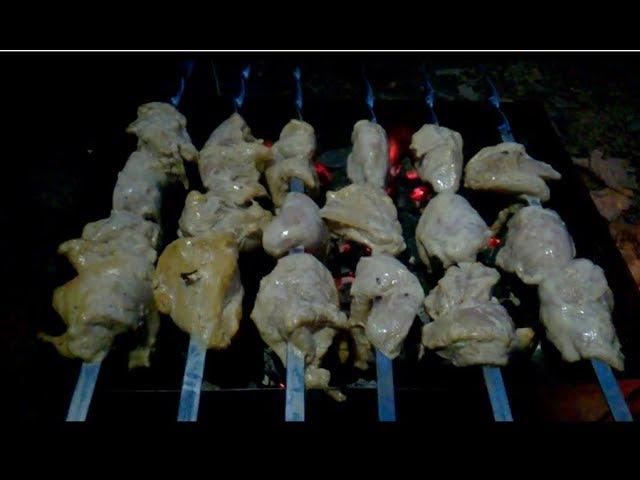 Куриный шашлычок Сметанно чесночный маринад