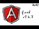 Previous Bypass is now fixed in version 1.4.7 - XSS with AngularJS 0x2
