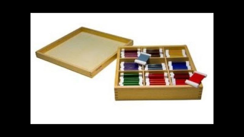 Монтессори-материал «Цветные таблички №3» (№7, МИМП)