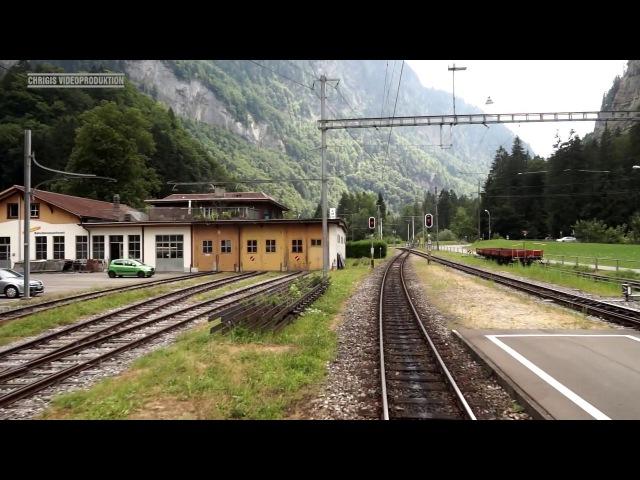 Berner Oberland Bahn (BOB) Führerstandsmitfahrt im Sommer 2015 » Freewka.com - Смотреть онлайн в хорощем качестве