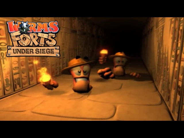 Worms Forts: Under Siege 2004 All Movies / Cutscenes by Team17 (HD)