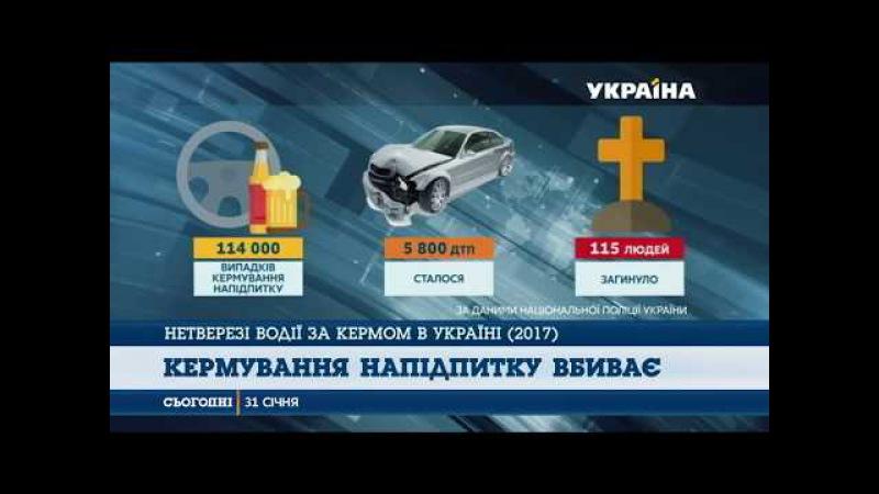 Через п'яних водіїв сталося майже шість тисяч ДТП за рік
