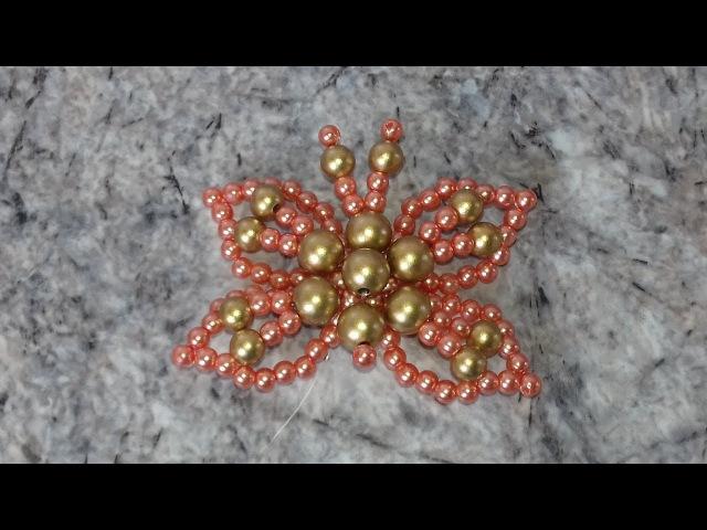 Como fazer: Borboleta de pérolas Mimosa - Adriana Valério » Freewka.com - Смотреть онлайн в хорощем качестве