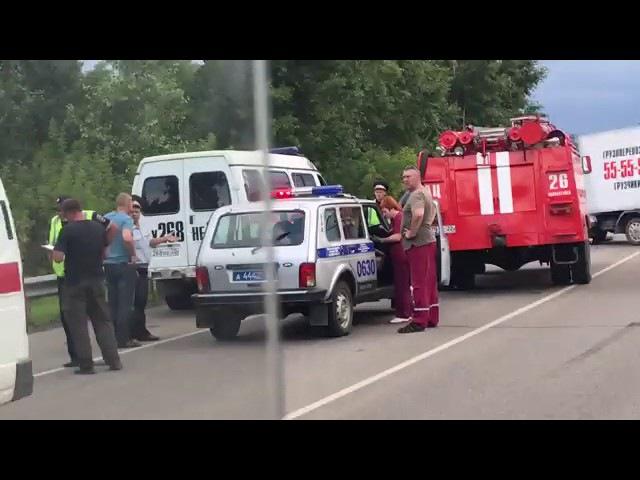Авария в районе Присягино 20.07.17 (Barnaul 22)