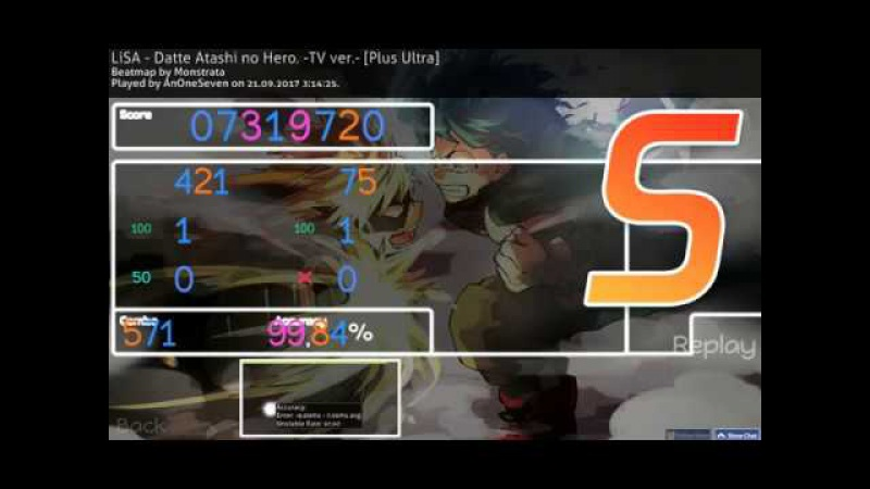 HL9 AnOneSeven | LiSA - Datte Atashi no Hero. -TV ver.- [Plus Ultra] 99.84