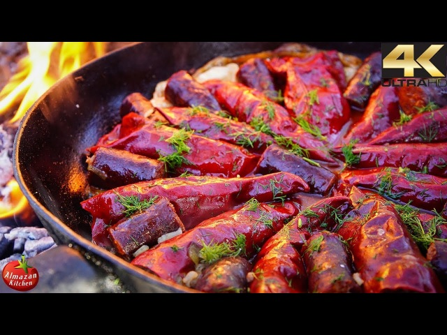 Epic Stuffed Dried Peppers! - Cooking Outside in 4K