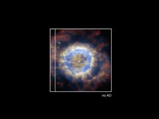 Сравнение изображений туманности NGC 6369, полученных с AOF и без нее