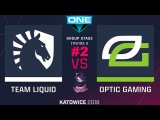 Liquid vs Optic RU #2 (bo3) ESL One Katowice 2018 Major Group A 21.02.2018