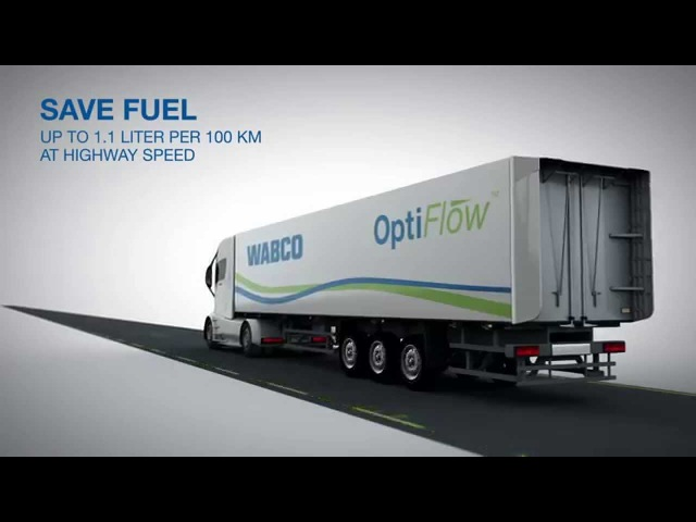WABCO OptiFlow Tail for Trailers - Aerodynamic solution with foldable tail and retrofit option