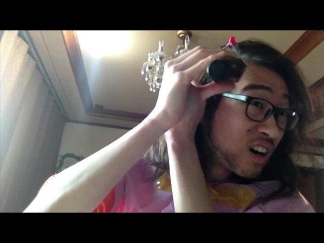 I cut my hair and beard myself (Panasonic ER2403K , Haruka)私の髪の毛を自ら切ったんです 내 머리카락,수염을 스스