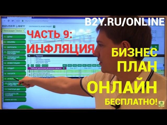 Раздел 9. Инфляция. Бесплатный сервис бизнес планирования онлайн B2USER by B2Y.ru