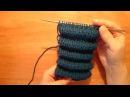 Вязание спицами. Узор из складок.|pintucks spokes| Эффект Клоке. шарпей / защипы