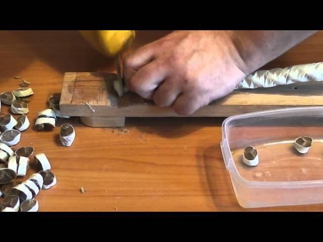 Рез каната 24 нож сталь М390 от Анзар